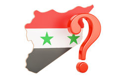 Syrian Question concept, 3D rendering. Isolated on white background Stock Photo