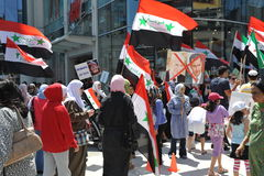 Syrian Rally for Freedom in Toronto Royalty Free Stock Photos
