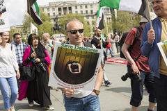 Syrian Rally in Trafalgar Square to support Medics Under Fire Stock Images