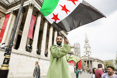 Syrian Rally in Trafalgar Square to support Medics Under Fire Stock Photography