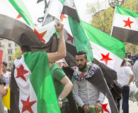 Syrian Rally in Trafalgar Square to support Medics Under Fire Royalty Free Stock Image