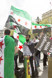 Syrian Rally in Trafalgar Square to support Medics Under Fire Royalty Free Stock Images