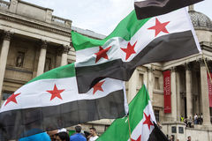 Syrian Rally in Trafalgar Square to support Medics Under Fire Stock Image