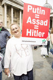 Syrian Rally in Trafalgar Square to support Medics Under Fire Stock Photo