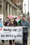 Syrian Rally in Trafalgar Square to support Medics Under Fire Royalty Free Stock Photography