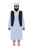 Syrian refugee. Resident of Pakistan national clothes. Afghanis Stock Photo