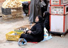 Syrian Refugees. In Egypt fleeing the Syrian Cival war Stock Image