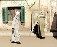 Syrian Refugees. In Egypt fleeing the Syrian Cival war Stock Photography