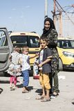 Syrian refugees entering Turkey Stock Photography