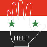 Syrian refugees, the hands of people who are asking for help Royalty Free Stock Photo