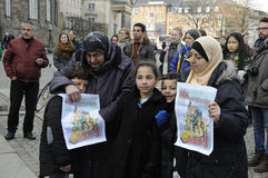 SYRIAN STAGED PROTEST RALLY IN COPENHAGEN DENMARK Stock Images