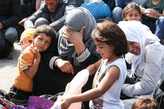 Syrian women with children Stock Images