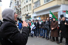 Syrians protest in Istanbul Stock Photography