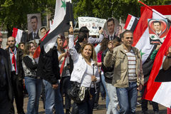 Syrians rally for Assad Stock Images