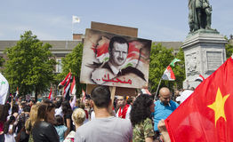 Syrians rally for Assad Stock Photos