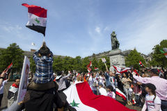 Syrians rally for Assad Royalty Free Stock Photo