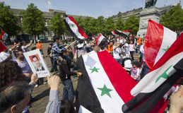 Syrians rally for Assad Royalty Free Stock Image