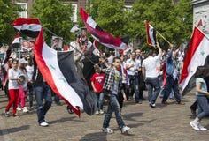 Syrians rally for Assad Stock Photos