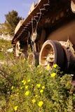 Syriansk behållare som är uppblåst i kriget Arkivfoto