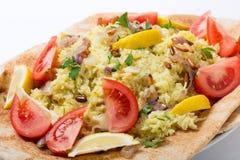 Syriansk fisk med ris Arkivfoto