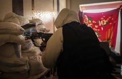 Syrien: Al - qaeda i Aleppo royaltyfria bilder