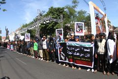 Syrien-Demonstration Stockbild