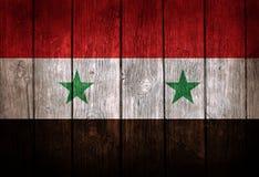 Syrien flagga Fotografering för Bildbyråer