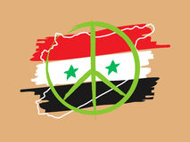 Syrien-Friedenslineare Vektorillustration Stockfotos
