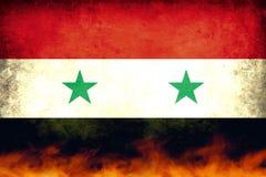 Syrien konfliktflagga Fotografering för Bildbyråer