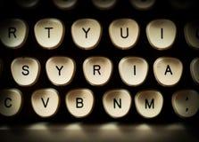 Syrien-Nachrichten oder -geschichte Stockfotos