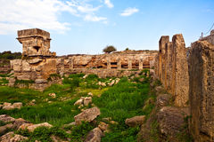 Syrien-- Tartus alter Platz Amrit Lizenzfreies Stockbild