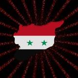 Syrii mapy flaga na czerwonej hex kodu wybuchu ilustraci Obraz Royalty Free