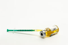 Syringe with a ampoule Royalty Free Stock Photo