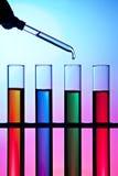 Syringe And Test Tubes Stock Photos