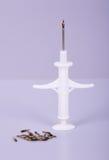 Syringe and animal id Royalty Free Stock Photo