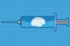 Syringe with Brain 2 Stock Image