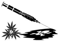 Syringe with the drug Royalty Free Stock Photos