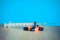 Syringe with filter effect retro vintage Stock Photo