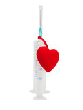 Syringe with a heart Royalty Free Stock Photography
