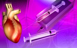 Syringe and heart Royalty Free Stock Photos