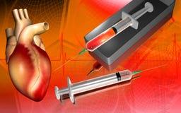 Syringe and heart Stock Photos