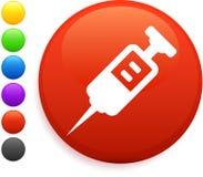 Syringe icon on round internet button Royalty Free Stock Image