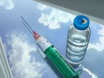Syringe and injectabilia Stock Images