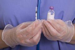 Syringe and insulin Stock Photo
