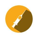 Syringe medical isolated icon Stock Photography