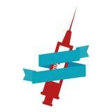 Syringe medical isolated icon Royalty Free Stock Image