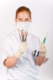 Syringe and medical tools Royalty Free Stock Image
