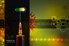 Syringe and medicine Royalty Free Stock Photography