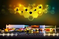 Syringe and medicine Stock Images