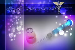 Syringe and medicine Royalty Free Stock Images
